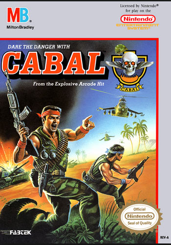 Cabal for NES front cover