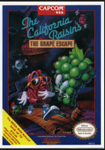California Raisins - The Grape Escape for NES front cover