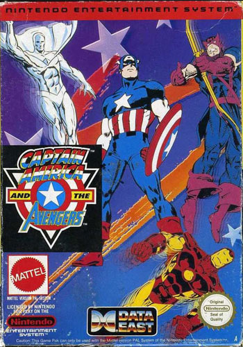 Captain America and the Avengers for NES front cover