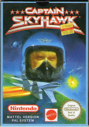 Captain Skyhawk for NES front cover