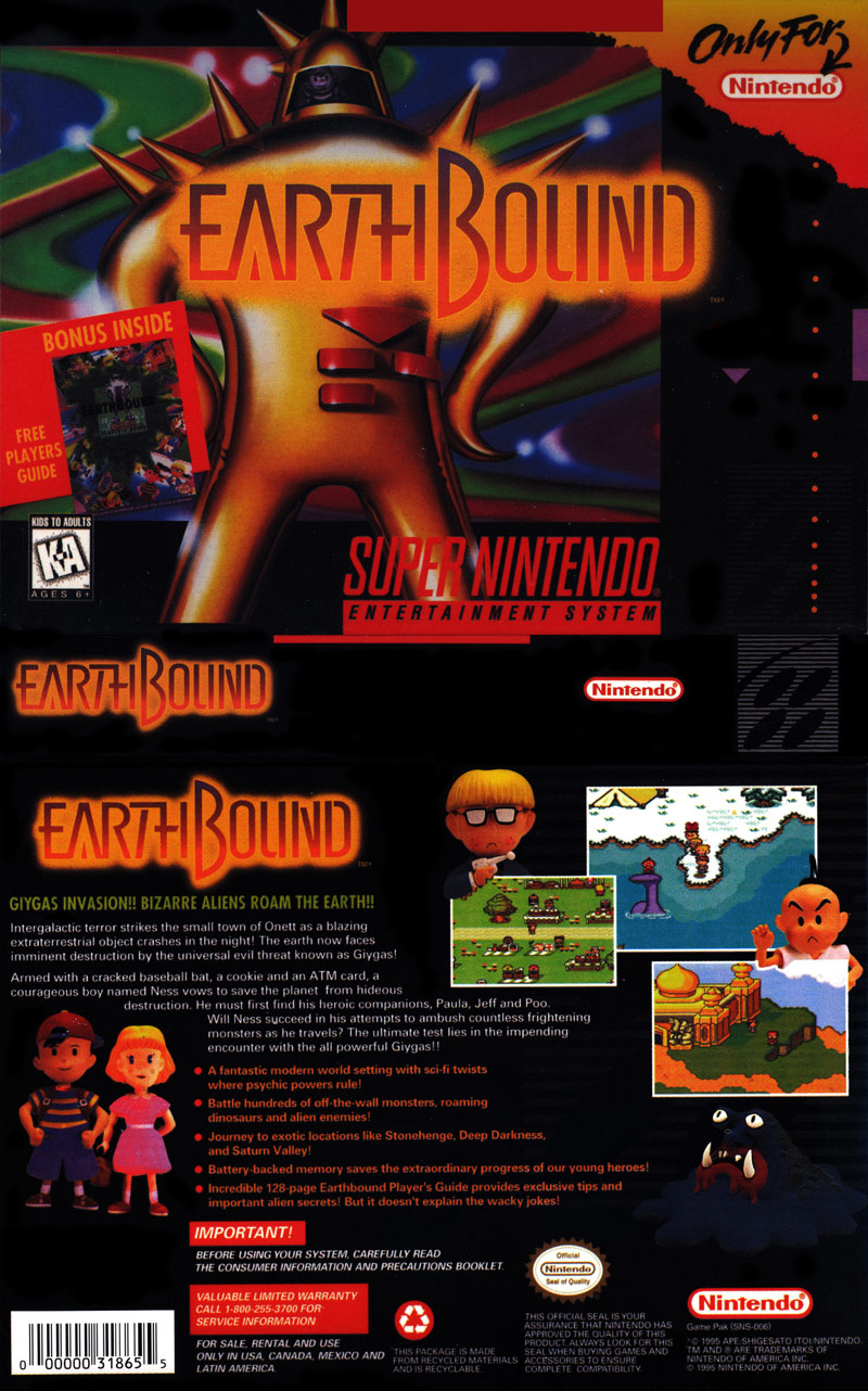 <b>Earthbound cheats</b>, <b>codes</b> and hints for Super Nintendo